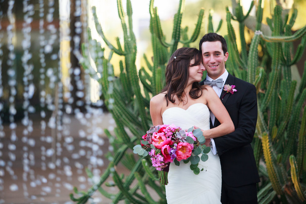 wedding, Arizona wedding, art museum wedding, wedding planner, wedding lighting, Phoenix-Scottsdale-Arizona-Wedding-Planner-Wedding-Venue-Destination-Wedding-Planner, bride, groom, peony, bouquet
