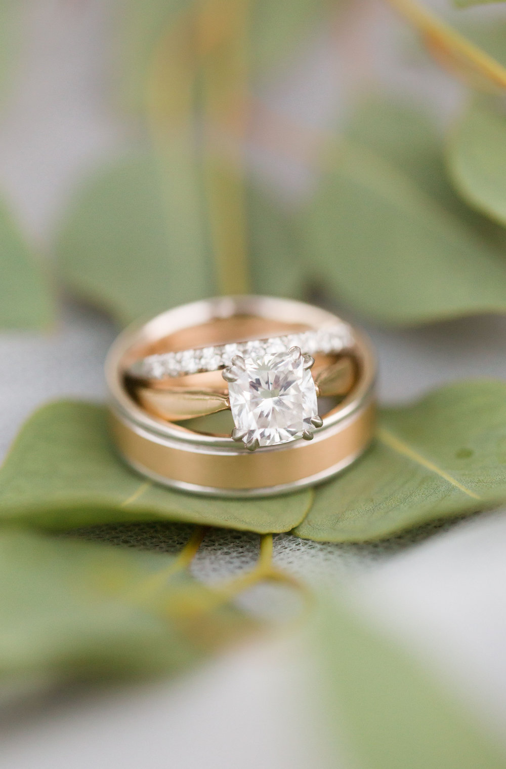 wedding details, peach and mint wedding, blush and green wedding, Arizona Phoenix Scottsdale wedding planner, gold wedding rings, desert wedding