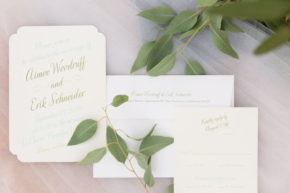 wedding invitations, peach and mint wedding, blush and green wedding, Arizona wedding planner, desert wedding
