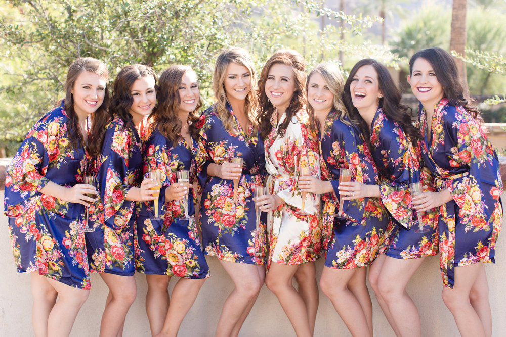 Phoenix-Scottsdale-Arizona-Wedding-Planner-Wedding-Venue-Destination-Wedding-Planner, Omni Montelucia weddings, sunset weddings, Arizona Sunset weddings, wedding details, bridal party, bridal robes, bridesmaids