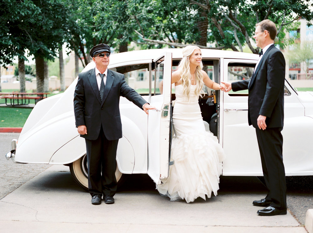 wedding transportation, Rolls Royce wedding transportation, bride transportation, father of the bride transportation
