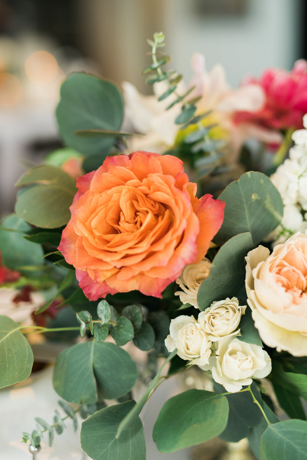 wedding flowers, orange wedding flowers, ivory wedding flowers, blush wedding flowers
