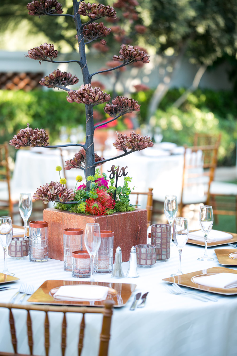 desert wedding decor copper wedding desert reception arizona reception wedding planner