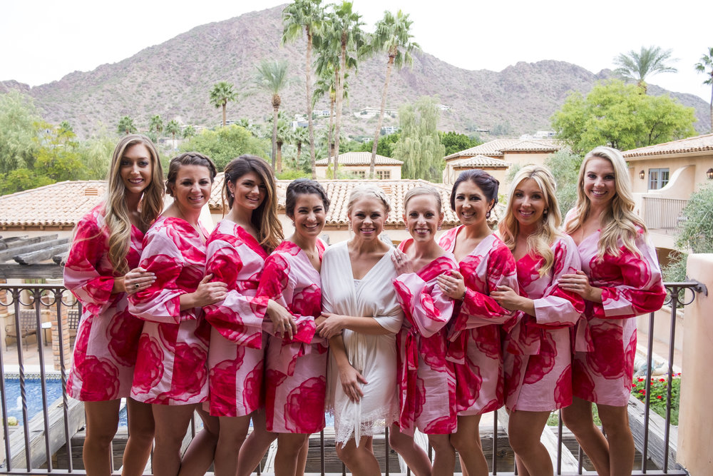 wedding party, arizona wedding, royal palms wedding, bridesmaids, wedding party, wedding planner