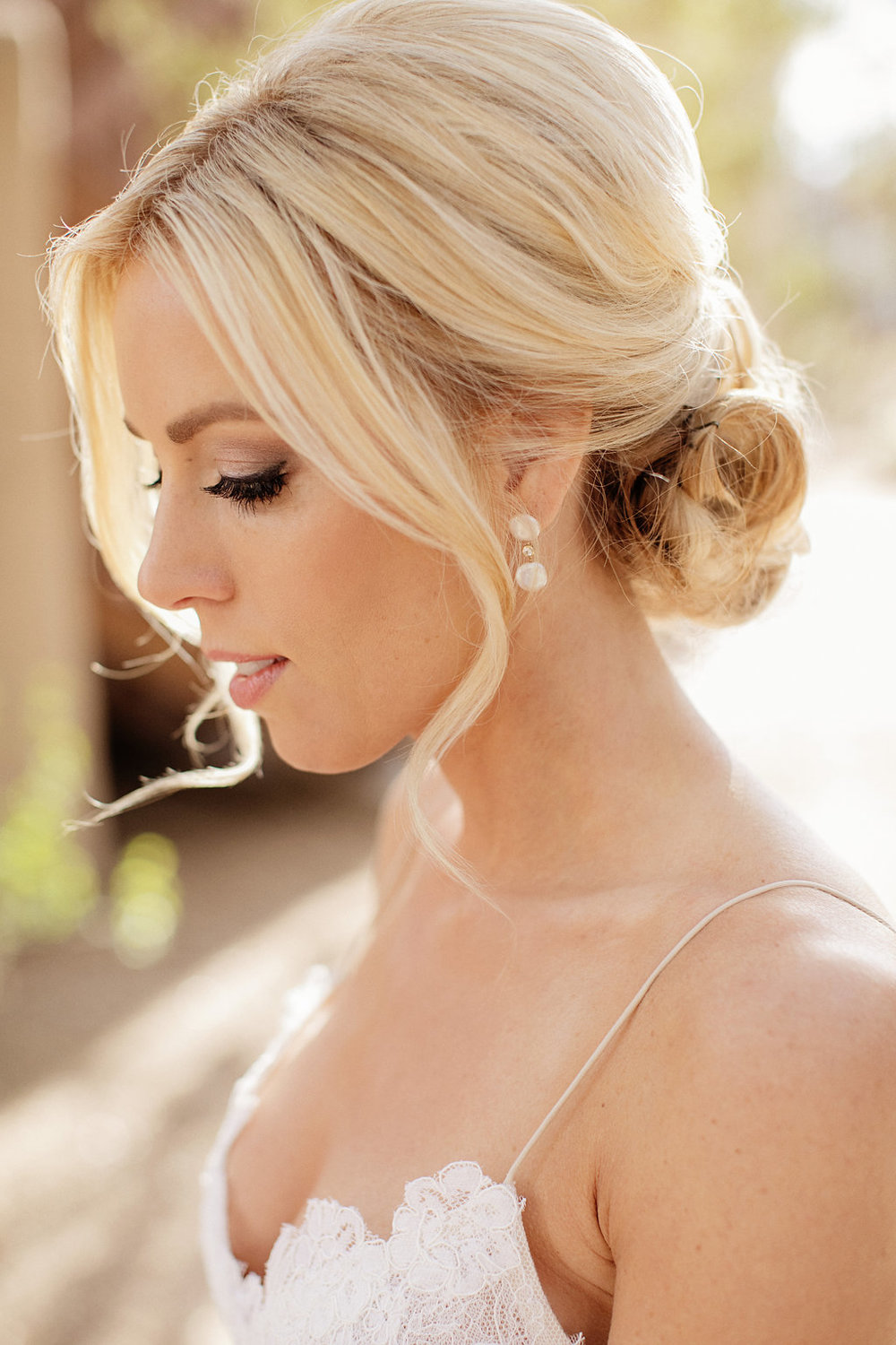 arizona wedding bride hair