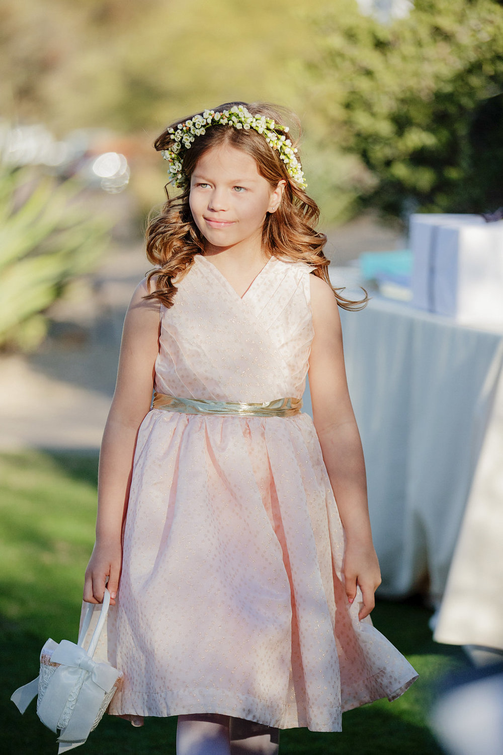 arizona wedding flower girl