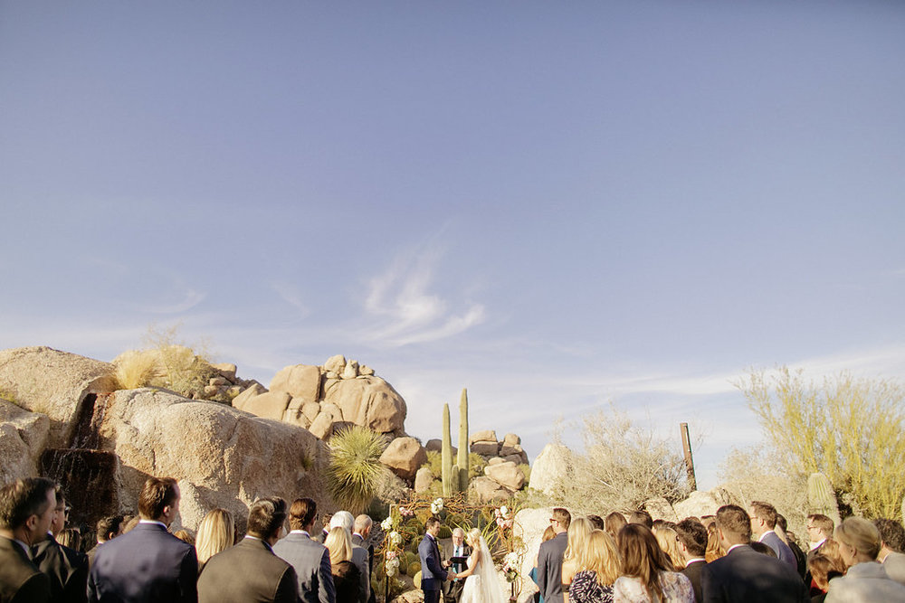 arizona wedding ceremony boulders
