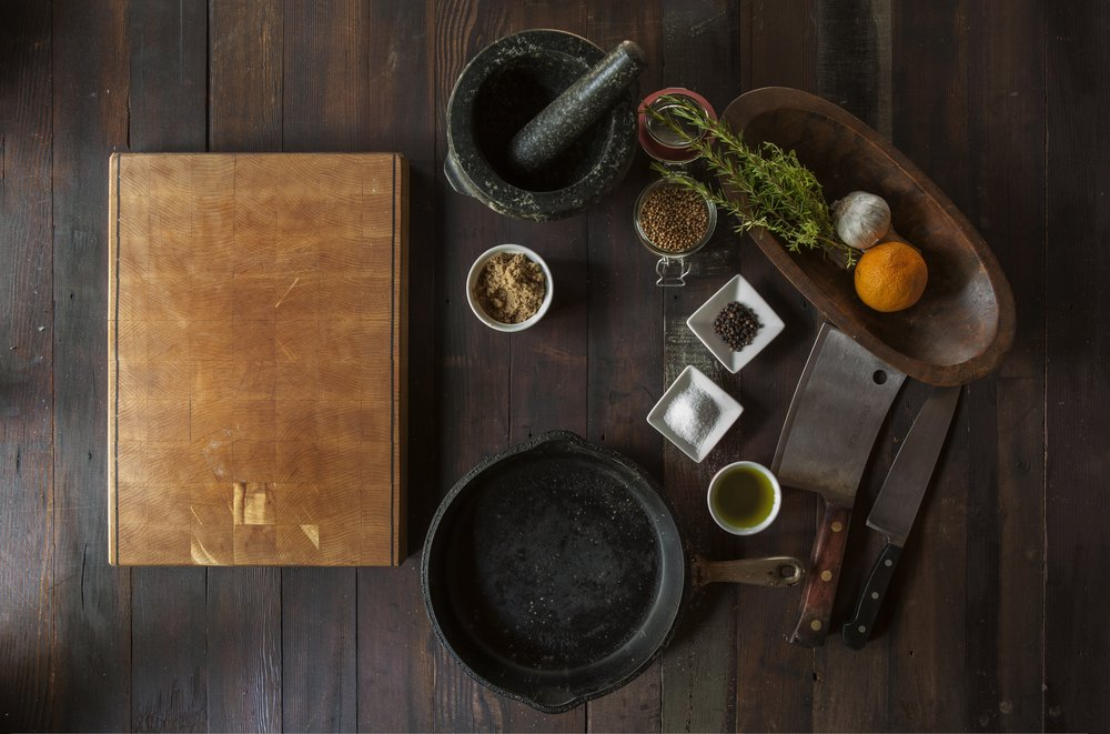 cast iron with cutting board.jpg