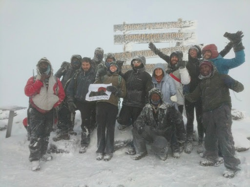A proud moment at Uhuru Peak -