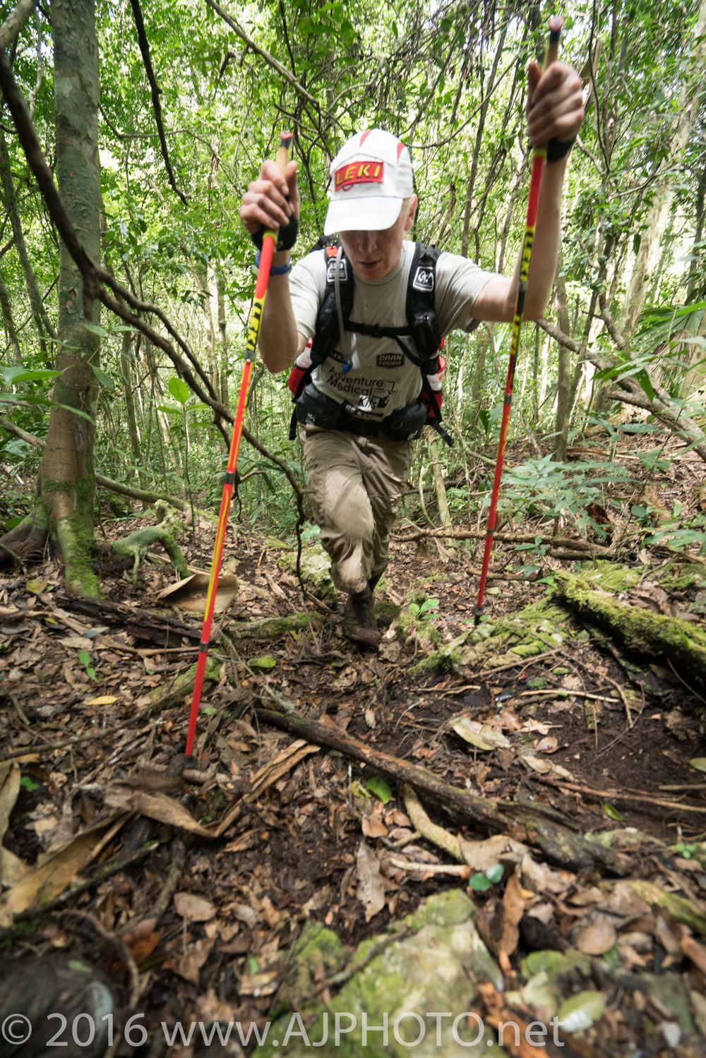 Mari loving her Leki trekking poles