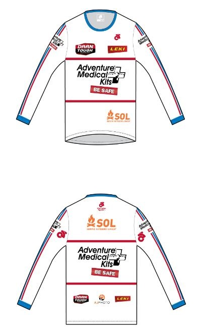Long Sleeve Performance Top ( M's and W's sizing)  $46. Click on image for more details including a size chart.