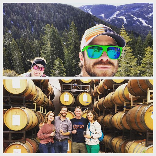 That's a good Sunday! #snowshoe #winetasting