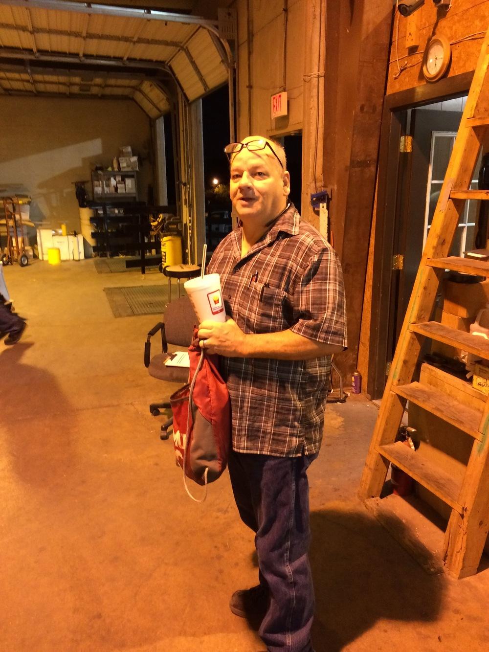 Tracy Espinoza-driver and warehouse.JPG