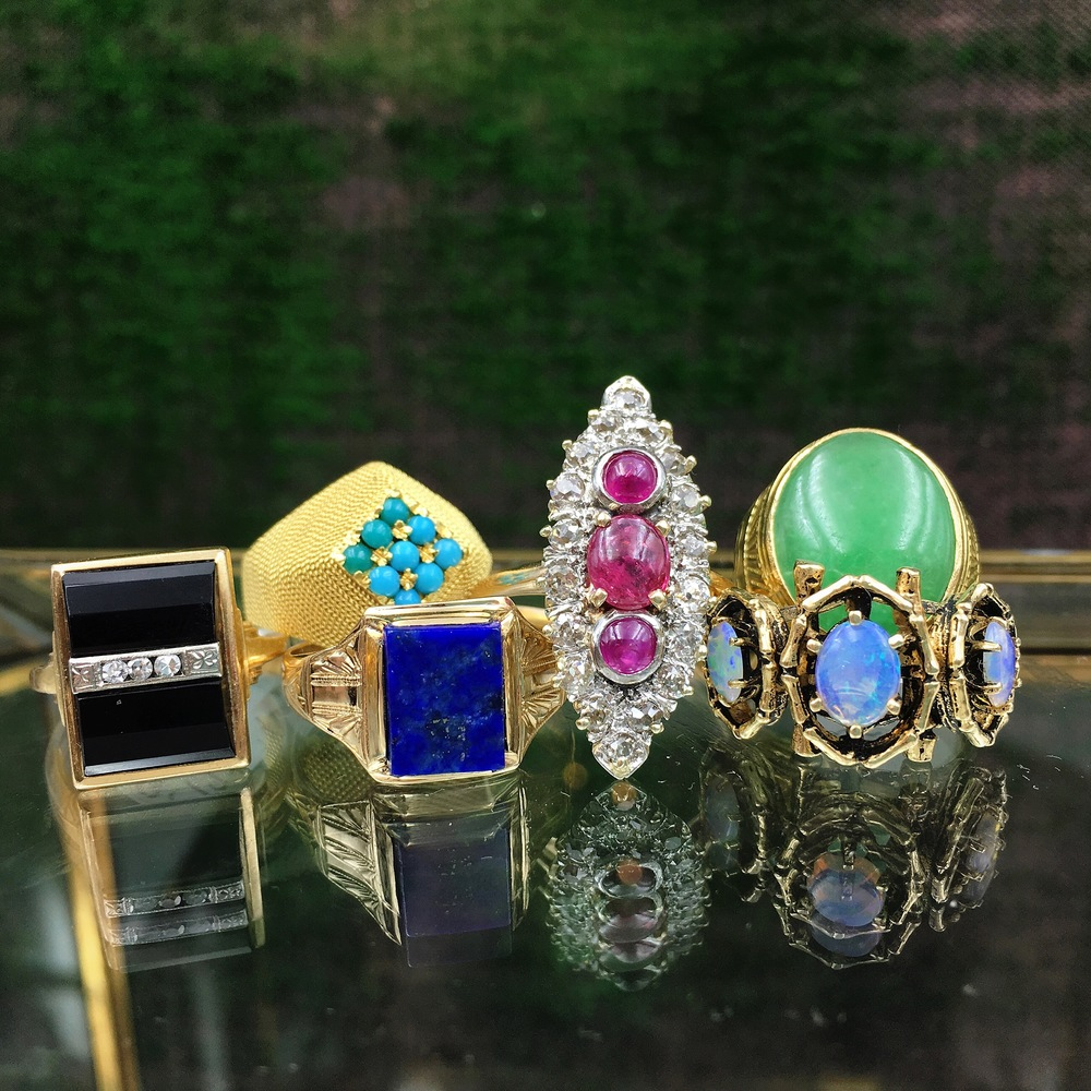 antique rings, reverie vintage jewelry nyc, estate jewelry nyc, antique jewelry nyc, antique ring collection