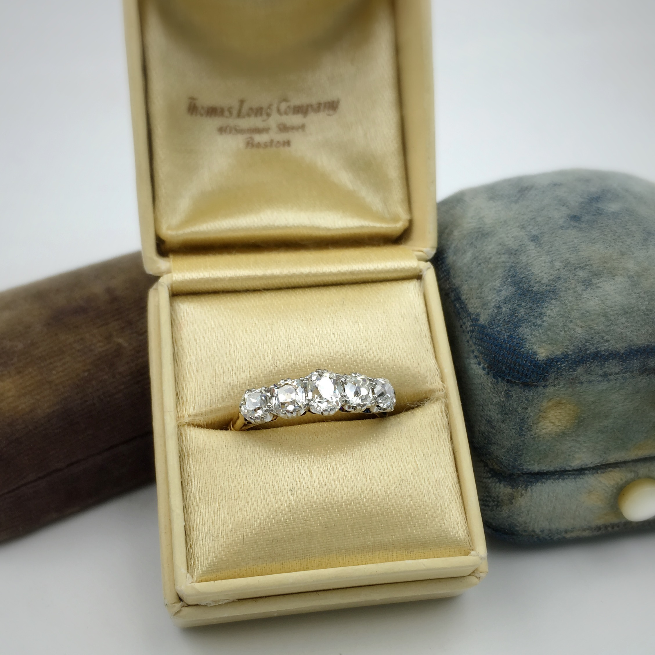 Exceptional Edwardian Five Stone Diamond Ring Reverie