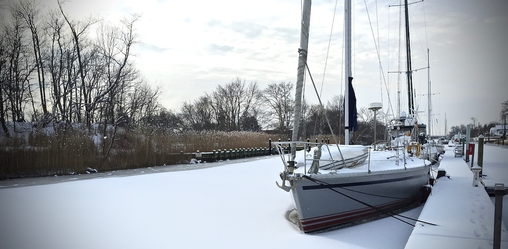 Our first three months aboard... winter.