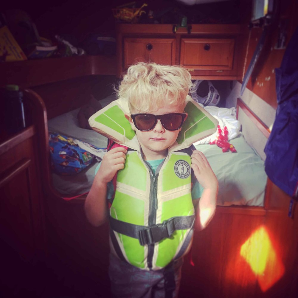 "Finn: Safety officer, concerned citizen, and old man. Finn spends most of his time ""fixing"" things around the boat that Justin hasn't, making sure everyone is observing OSHA standards, and generally supervising daily activities. Finn is without doubt our ""Type A"" crew member, and has been voted ""most likely to succeed"" four years running."