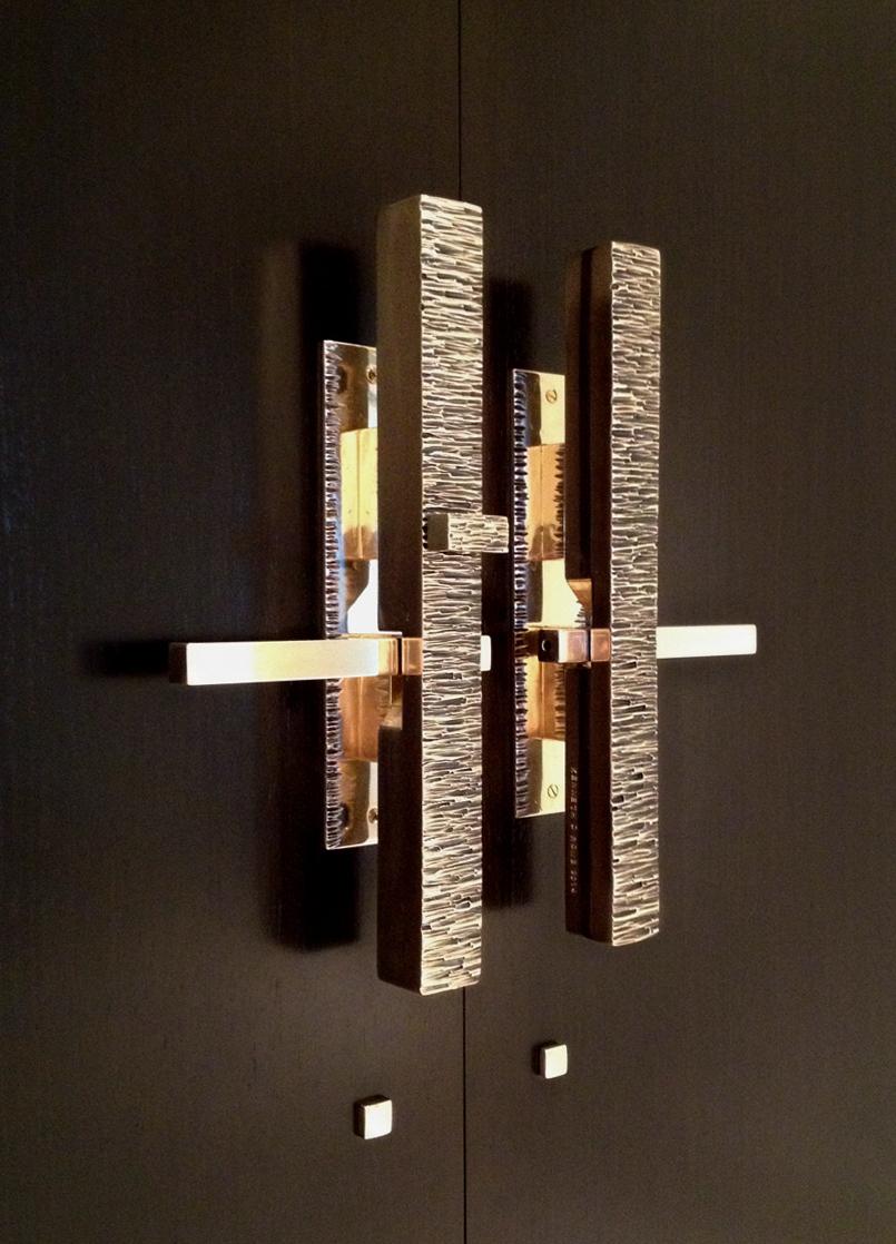 Solid bronze custom mechanical handle set
