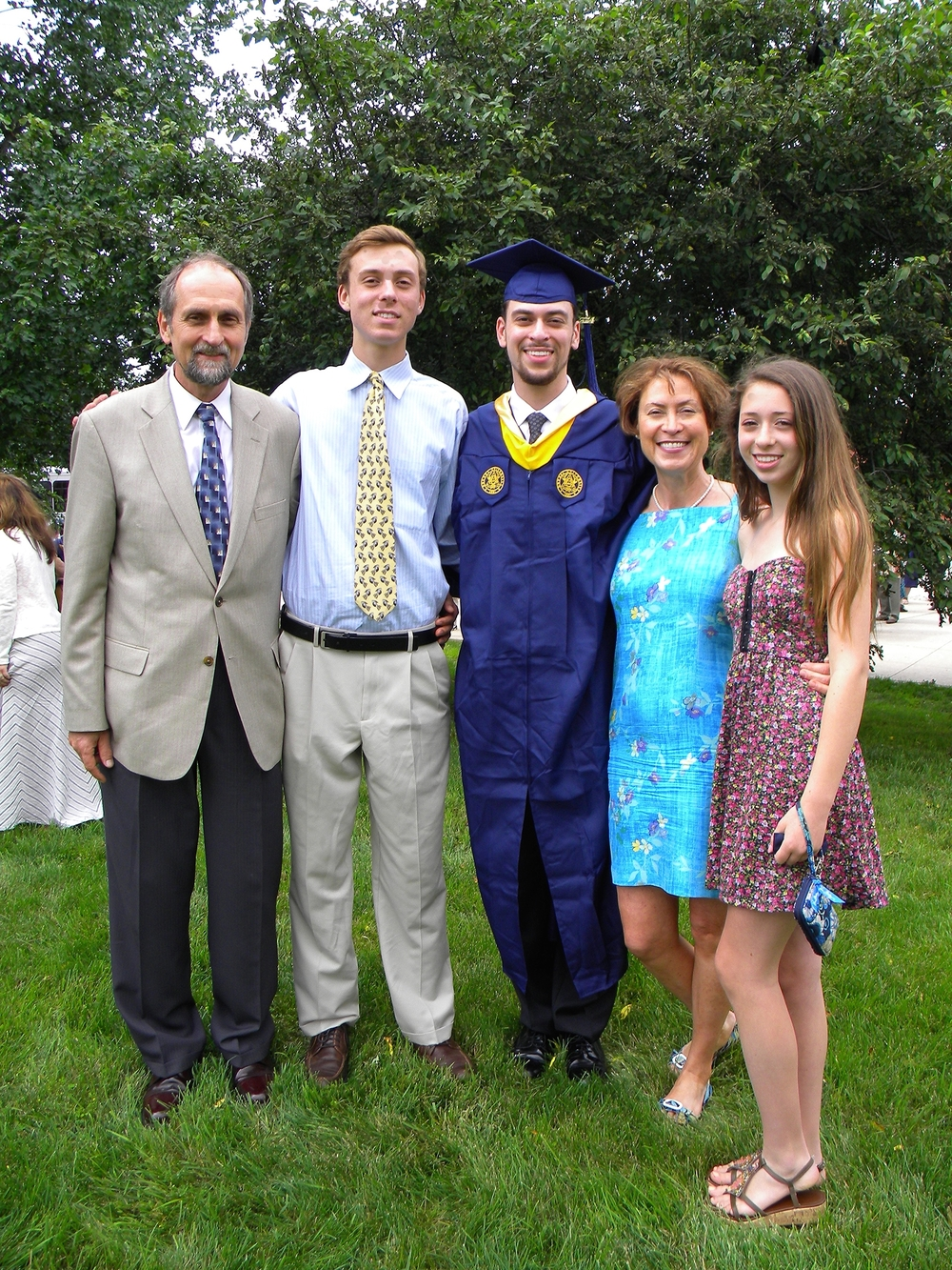 Dan's graduation. Amazingly, I was there.