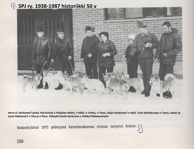 Presentation of dogs found in Sodankylä, 1973. Courtesy of Traditional Spitz Association.