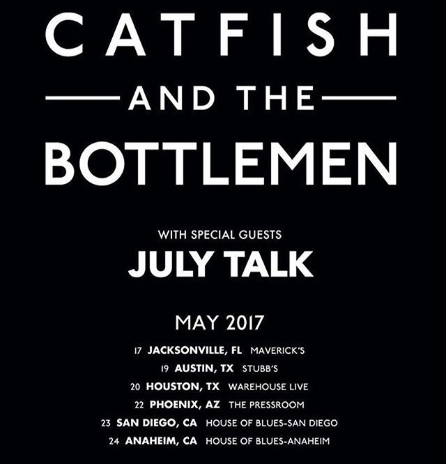Don't miss @julytalk on tour w Catfish & The Bottlemen. July Talk is UNBELIEVABLE live!!