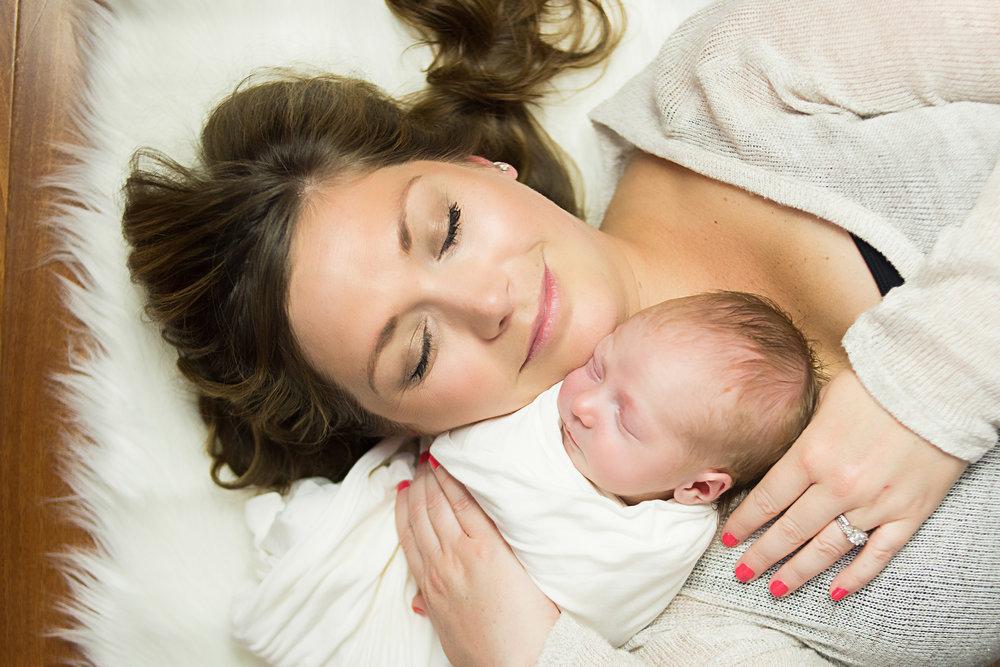 new mom, newborn baby girl newport beach