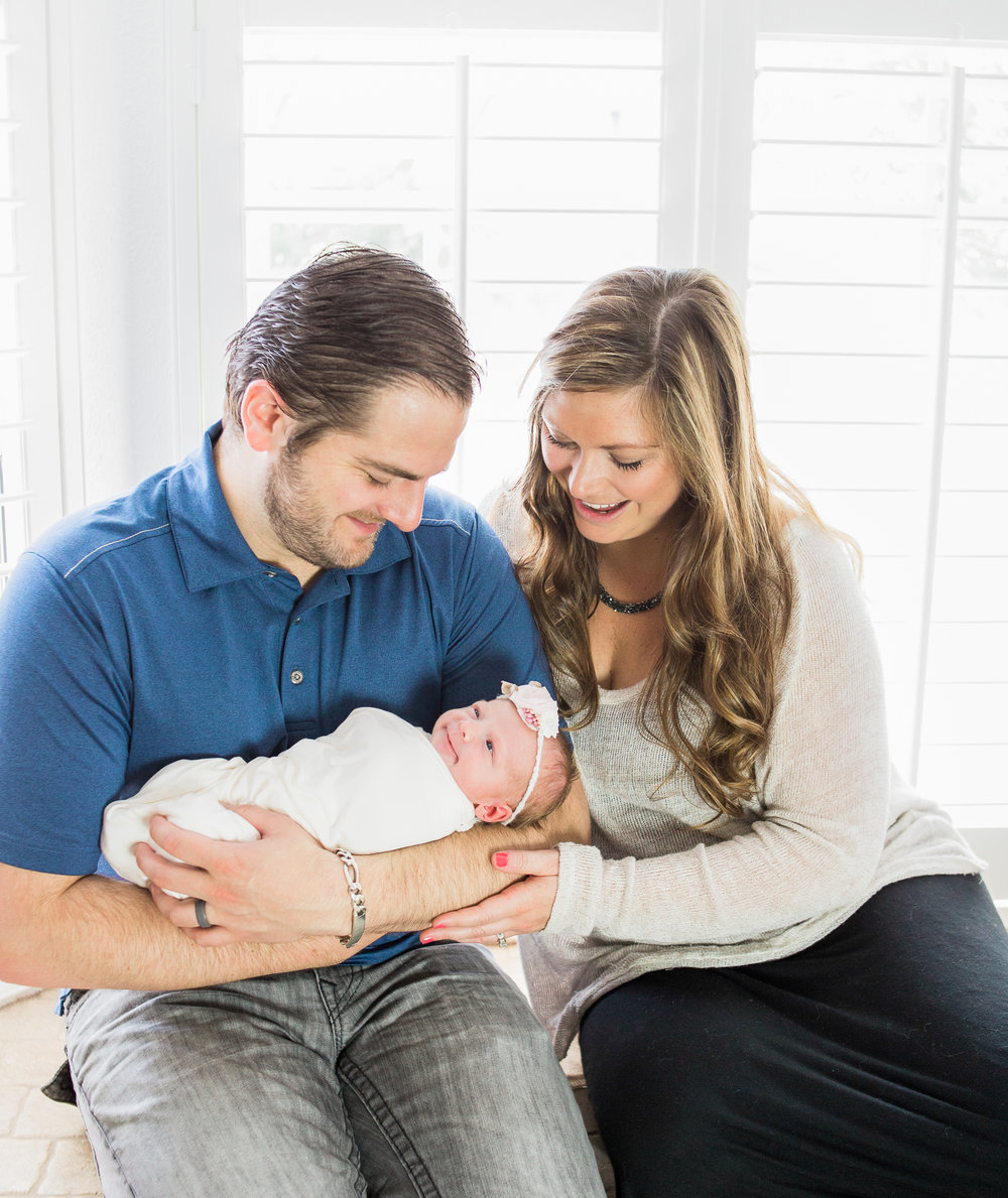 new parents newborn girl newport beach