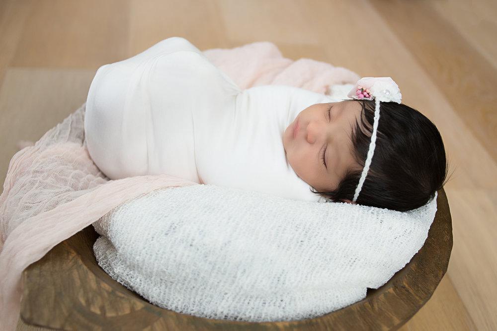 newborn baby girl irvine california photography