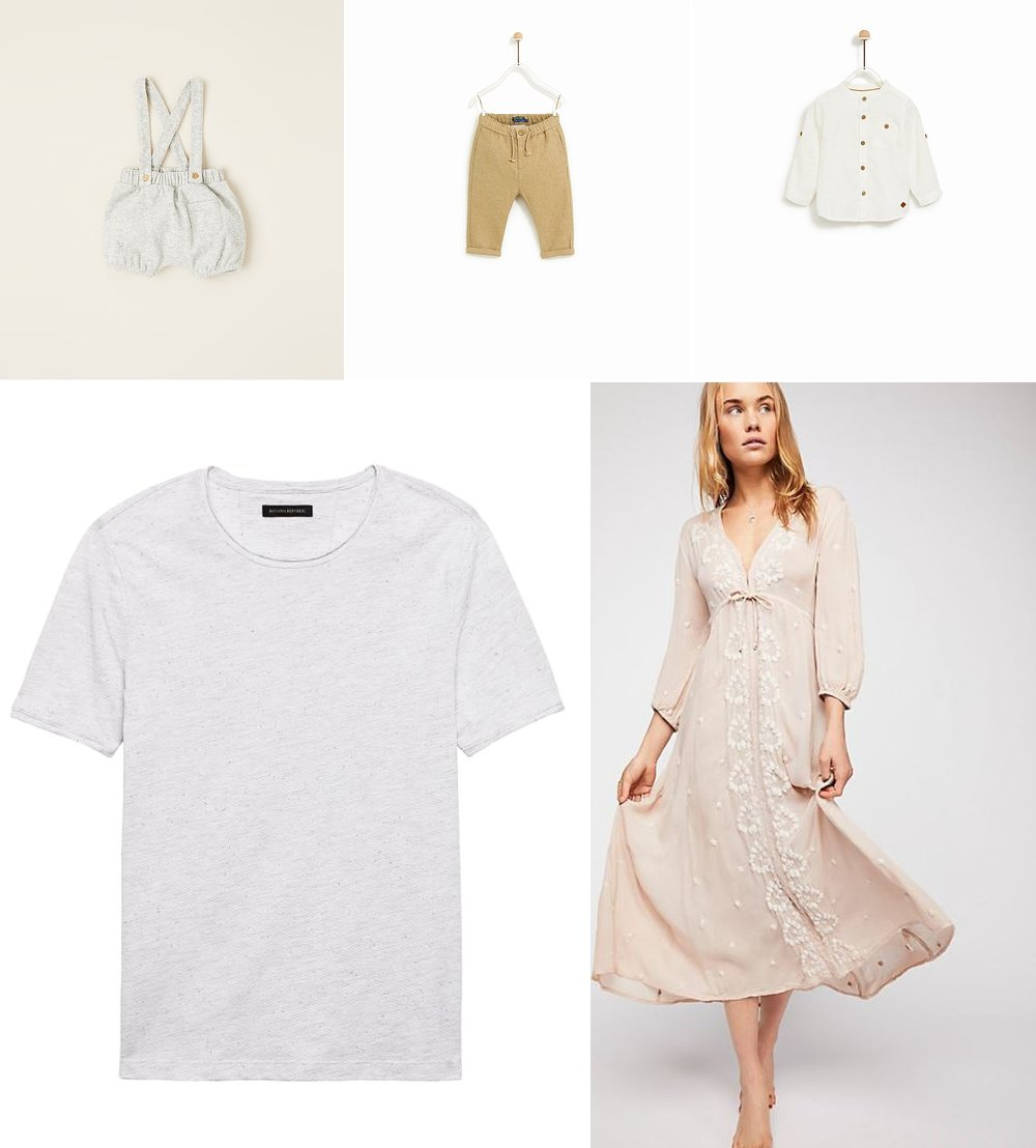 July Style Board, Poppy Lea Photography, Wardrobe