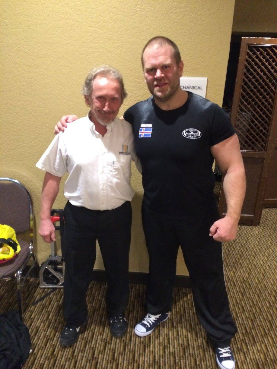Dr. Ray at the National Weightlifting Championships