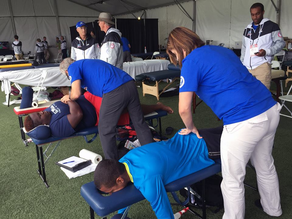 Dr. Tim Ray's team working on the US Track Athletes