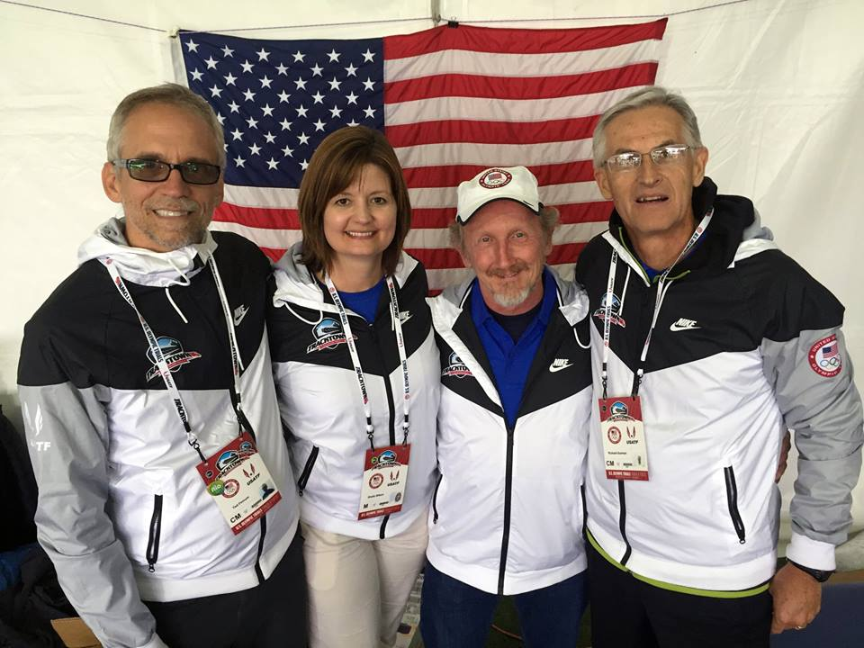 Dr. Tim Ray and his FICS team at the US Track and Field Finals