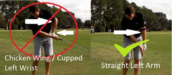 Chicken-winging can be the result of improper shoulder mobility and/or an Over the top swing.