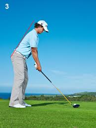 This is a nice neutral swing.  See how there is no obvious curve in the spine?  This is the start of a good swing!