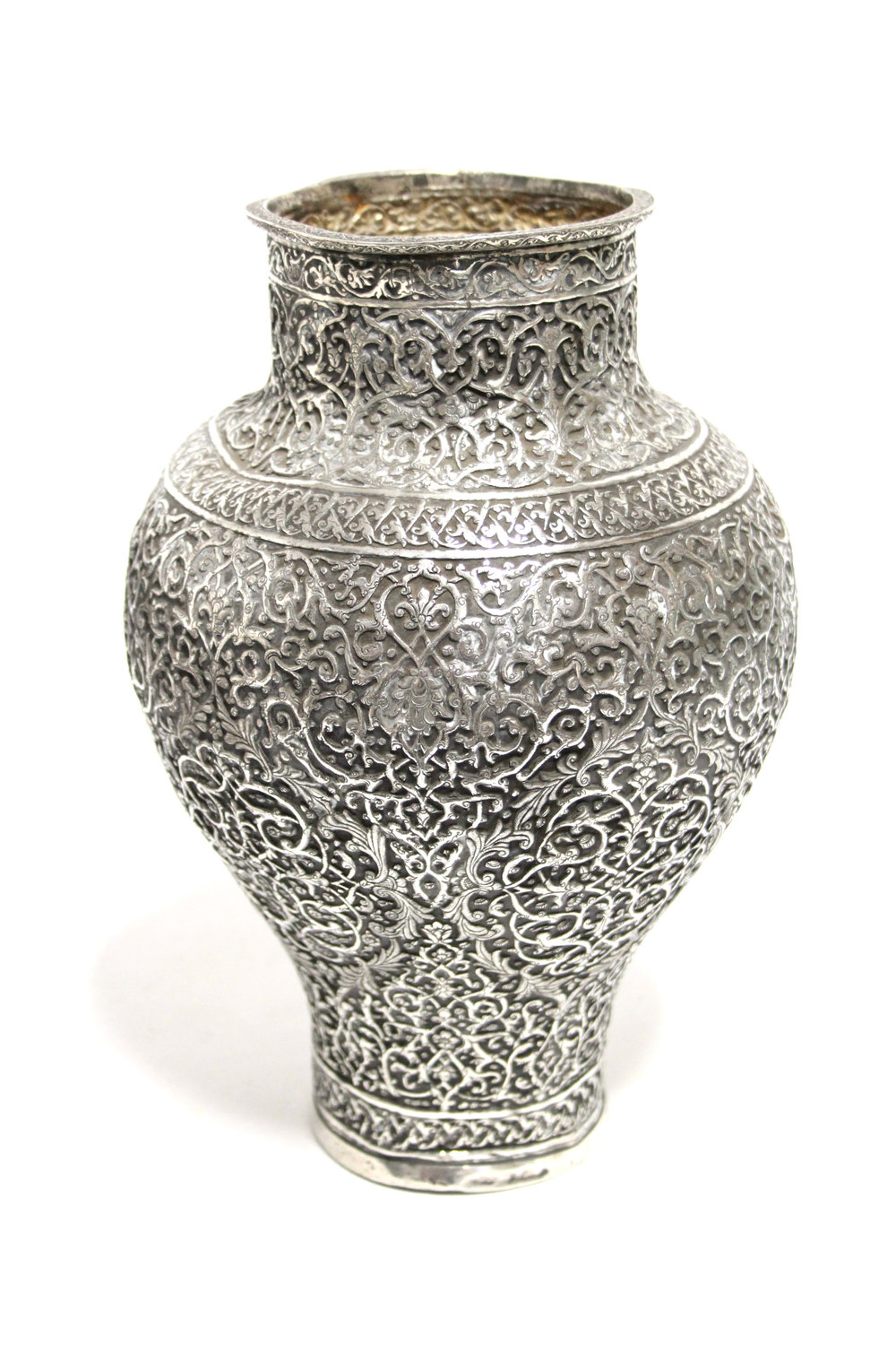 Sold For £23,000 An early Persian silver vase