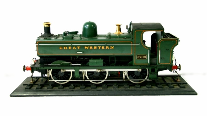 Sold For £2,500  A large scratch-built model Great Western steam engine