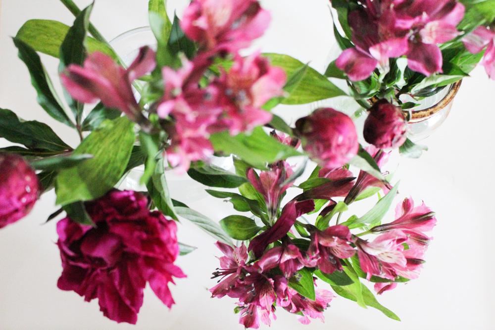 Peonies and Alstroemeria
