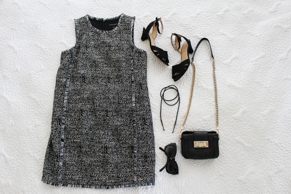 DRESS: BANANA REPUBLIC [ SIMILAR ] / SHOES: ZARA [ SIMILAR ] /  CHOKER  /  REBECCA MINKOFF BAG  /  SUNGLASSES
