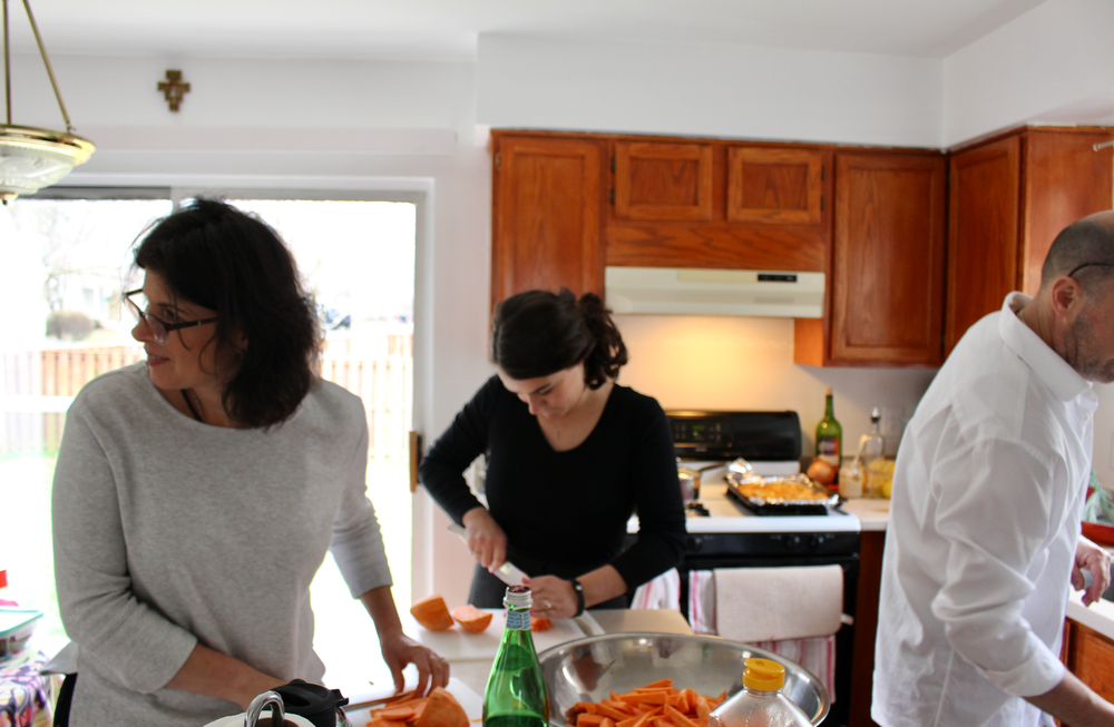 Cooking with my family is one of my favorite ways to spend time together during the holidays.