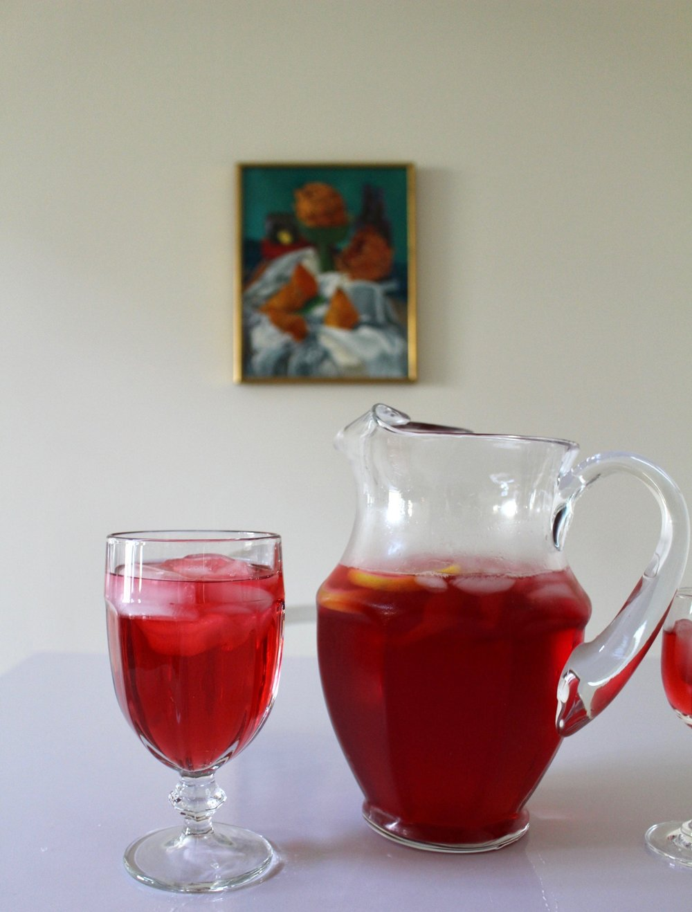 HIBISCUS ICED TEA / FOOD / DRINK IDEAS / NICOLEMCARUSO.COM
