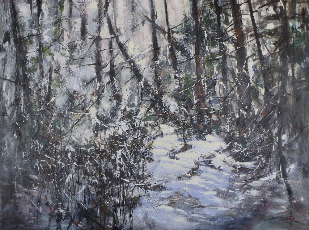 WINTER FOREST 36x48 SOLD