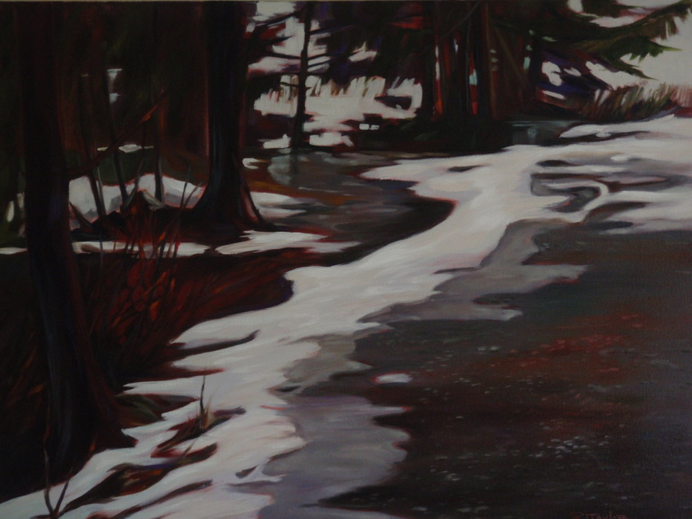 MELTING SNOW 24x36 sold