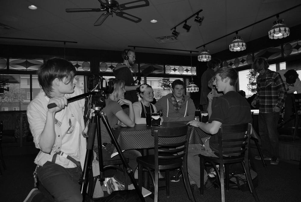 "Behind the scenes of ""This Loneliness"" (photo courtesy of Michelle Chabot)"