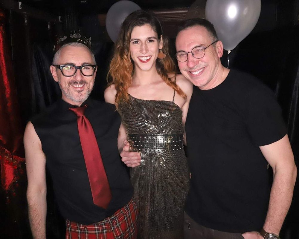 Alan Cumming, Daphne, and Daniel Nardicio  Photo by Jeff Eason