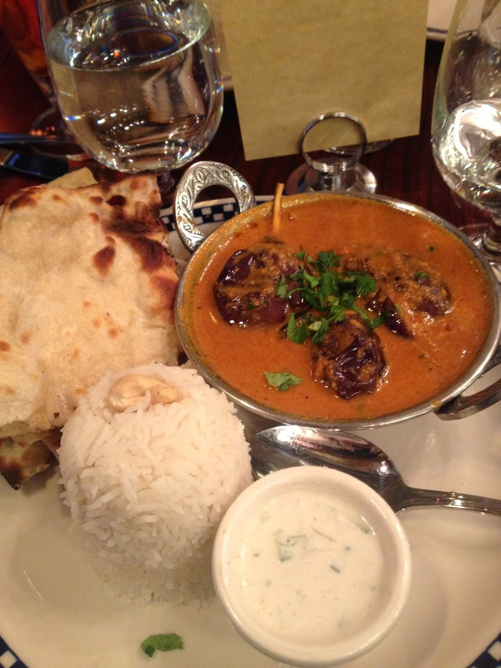 Eggplant Curry at Drunken Munkey