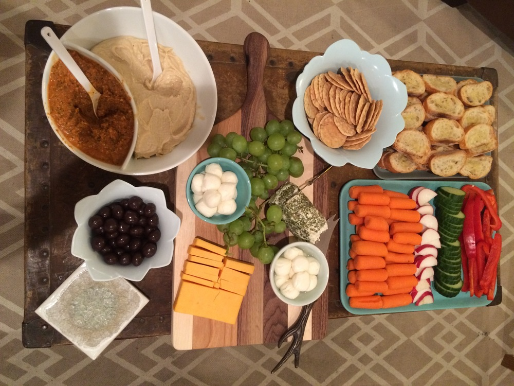 How cute is this spread from our book club? Yes, I just described food as cute.
