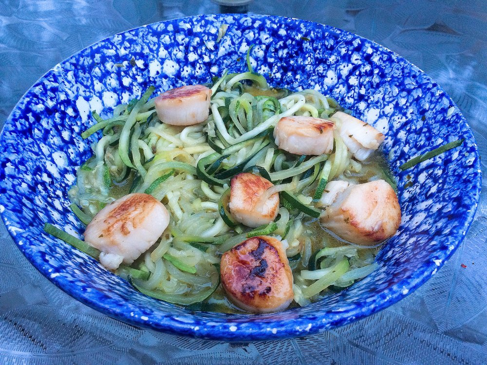 Seared Scallops and Zoodles Recipe