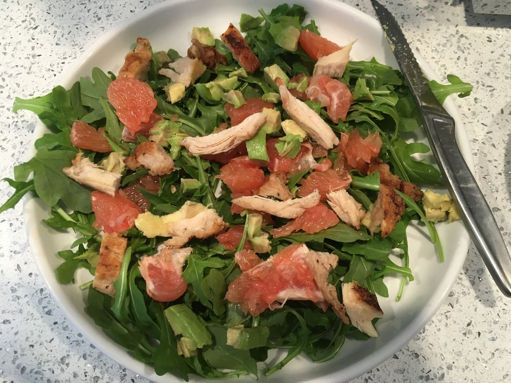 Arugula Grapefruit Avocado Salad