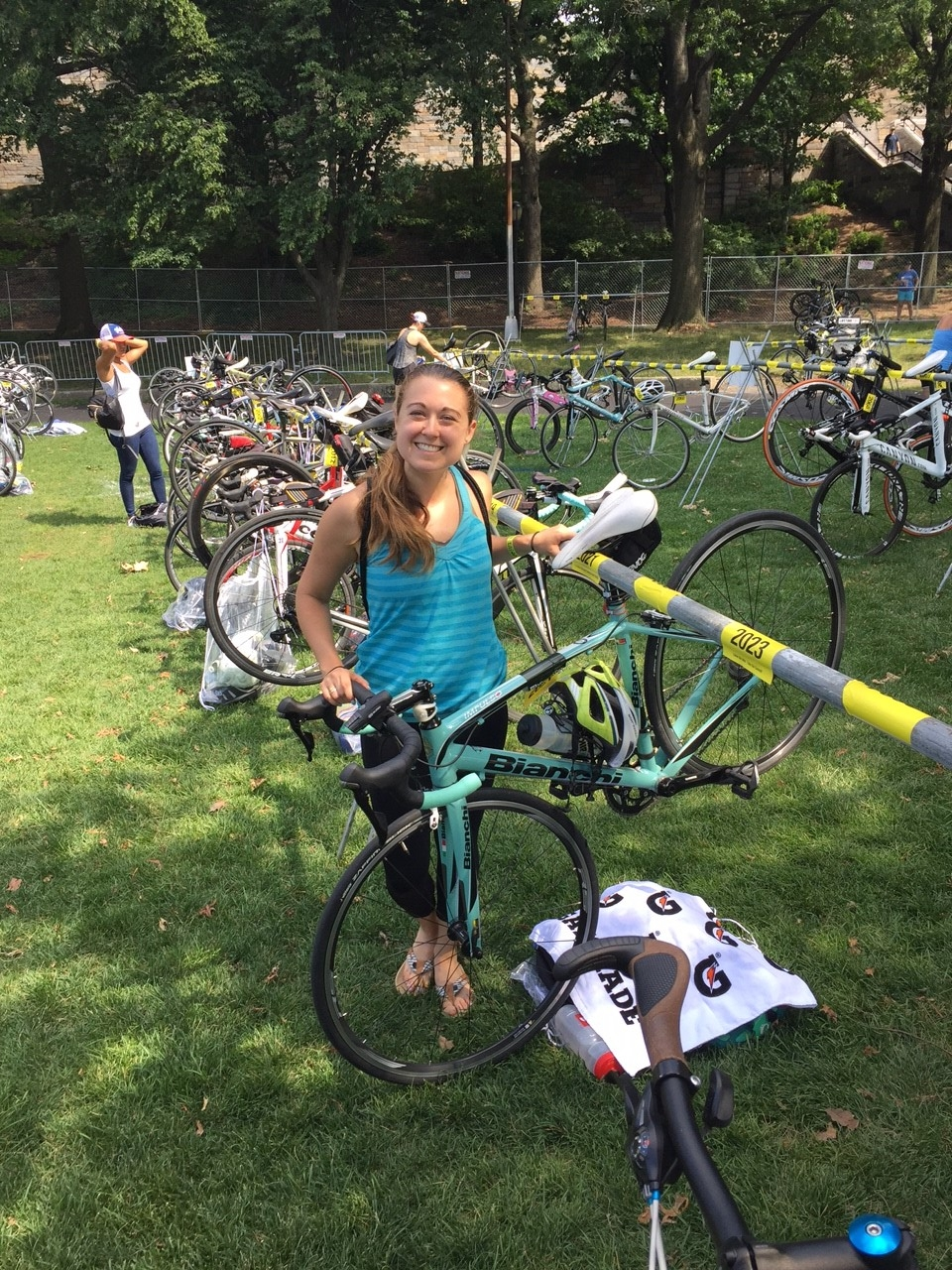 NYC Tri Bike Check-In