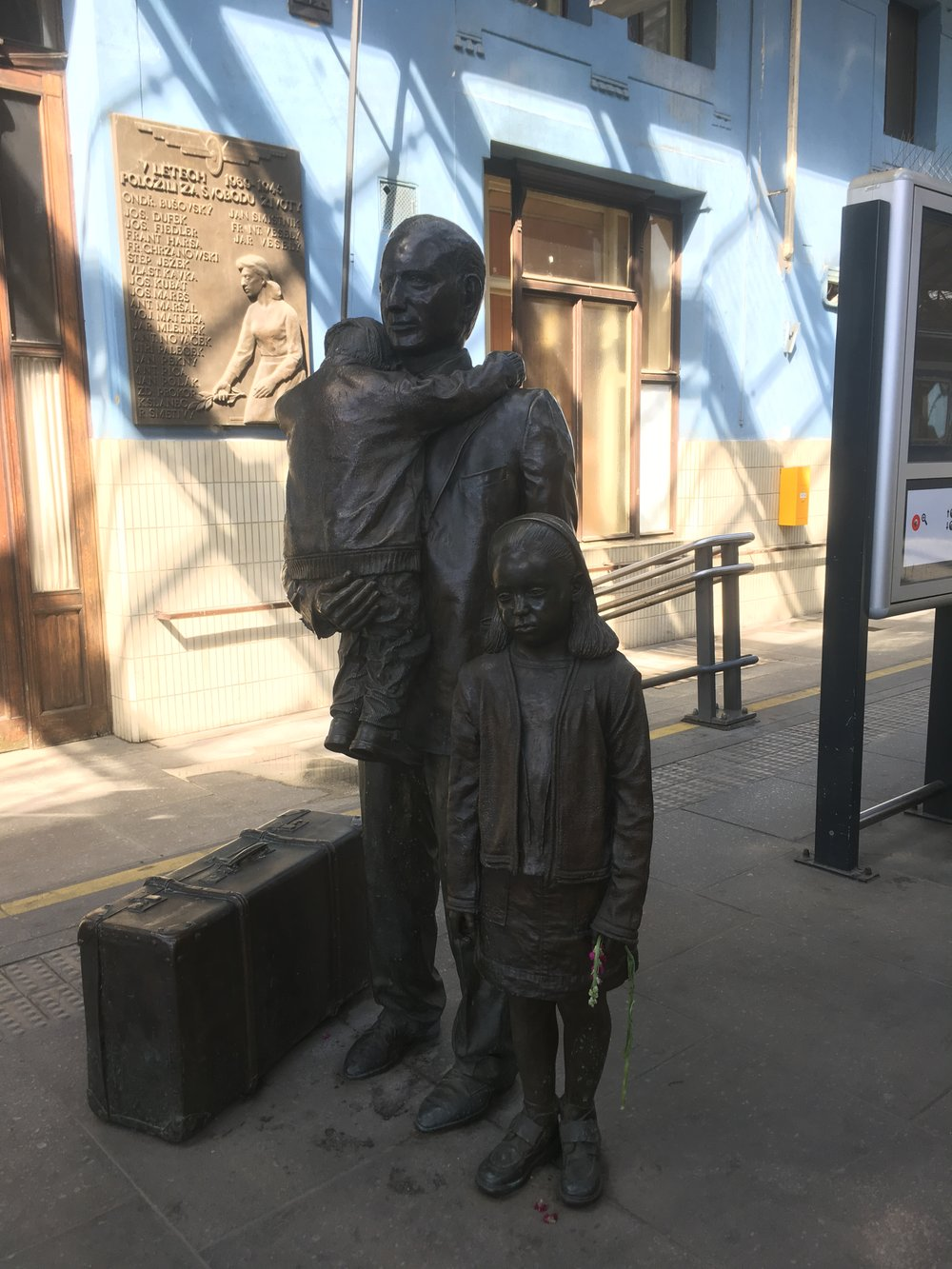 Sir Nicholas Winton Tribute Statue Prague